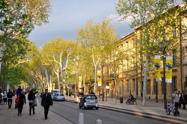 Aix-en-Provence é uma cidade jovem e animada.