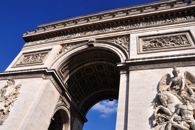 Detalhes do arco do Triunfo.