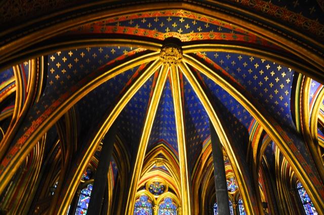 O teto da capela inferior