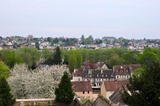 Vista panorâmica da cidade de Chartres