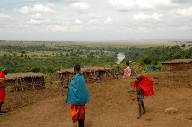 Uma aldeia Masai.