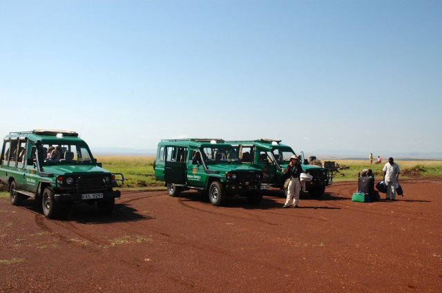 O campo de pouso da Reserva Masai Mara.
