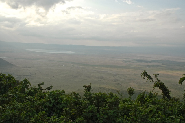 A Cratera do Ngorongoro.