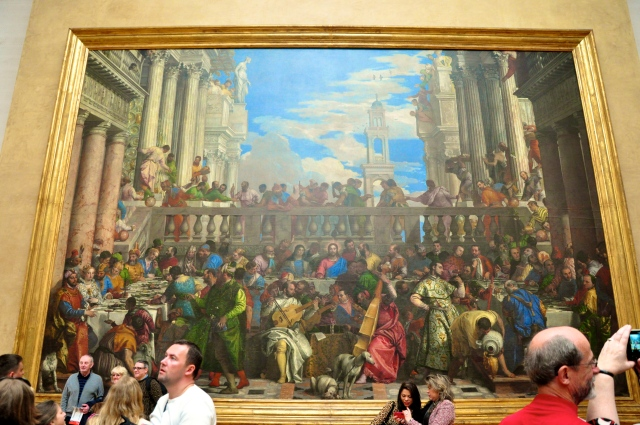 """A gigantesca tela, """"Bodas de Canaã"""", de Veronese."""
