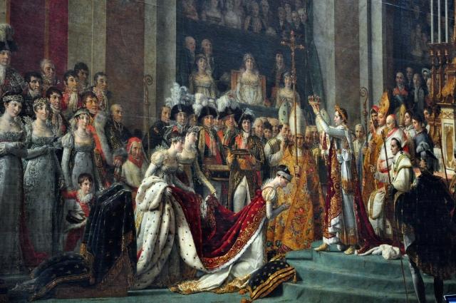 A Coroação de Napoleão Bonaparte de Jacques-Louis David