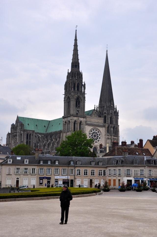 A Catedral de Chartres.