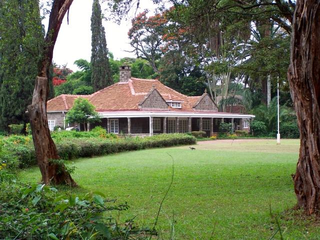 A casa sede da fazenda de Karen Blixen.