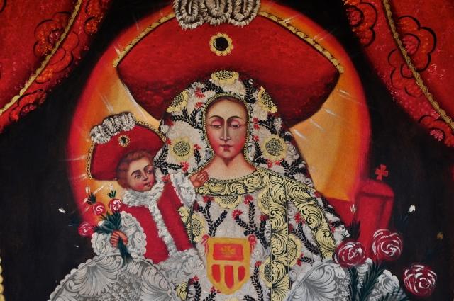 Imagem sacra com influência inca.