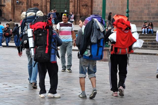 Mochileiros em Cusco
