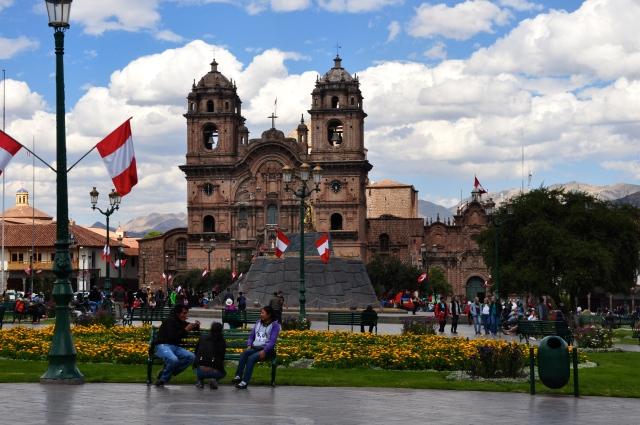 A catedral de Cusco.