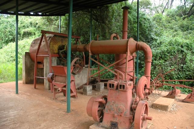 Máquina de torrefação de café da fazenda do Quênia.