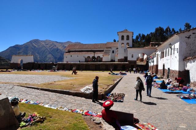 A igreja de Chinchero construída sobre as ruínas Incas.