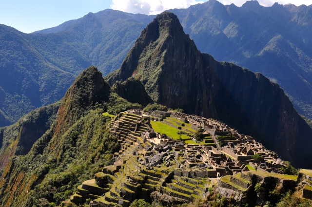Machu Picchu ao entardecer.