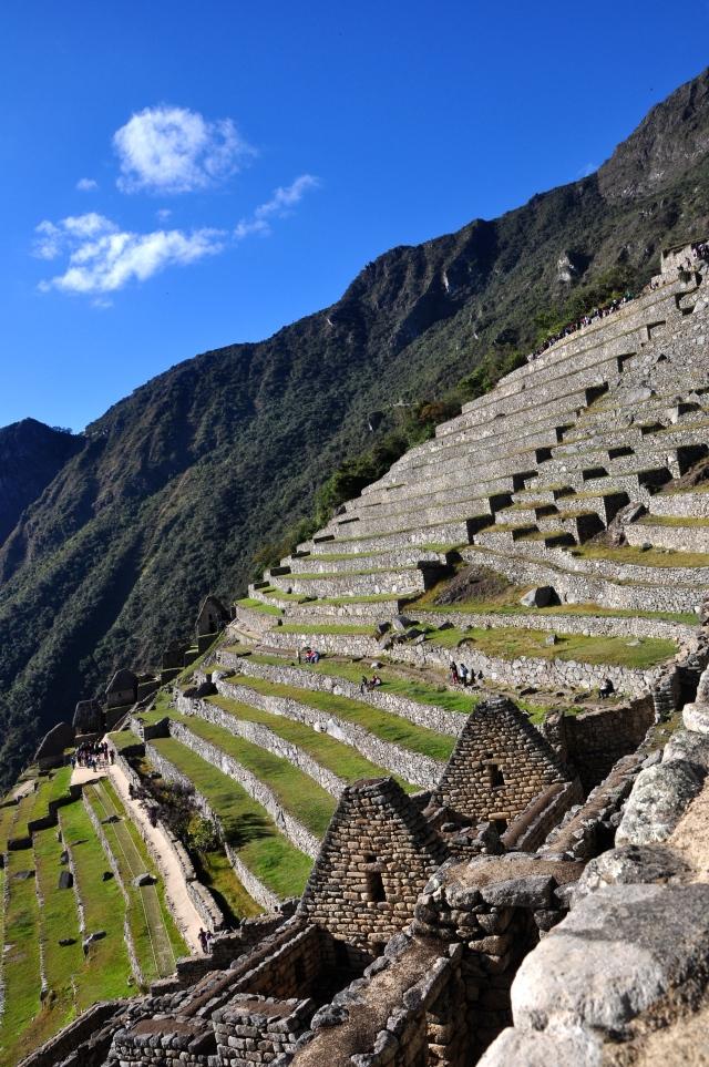 Os terraços agrícolas de Machu Picchu