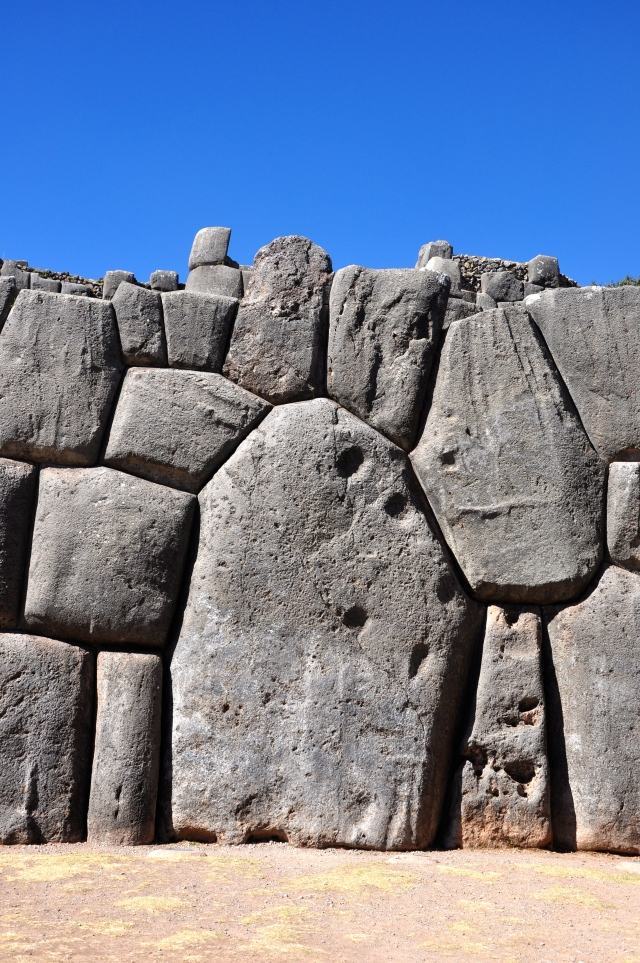 O perfeito encaixe das rochas nas construções incas.