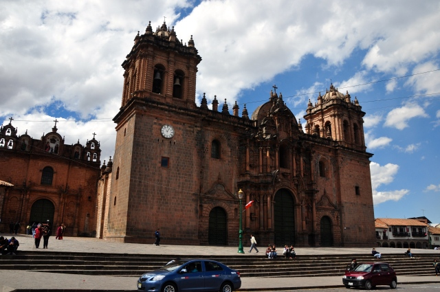 A Catedral de Cusco.