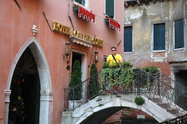 A fachada do Hotel Ca Dei Conti.