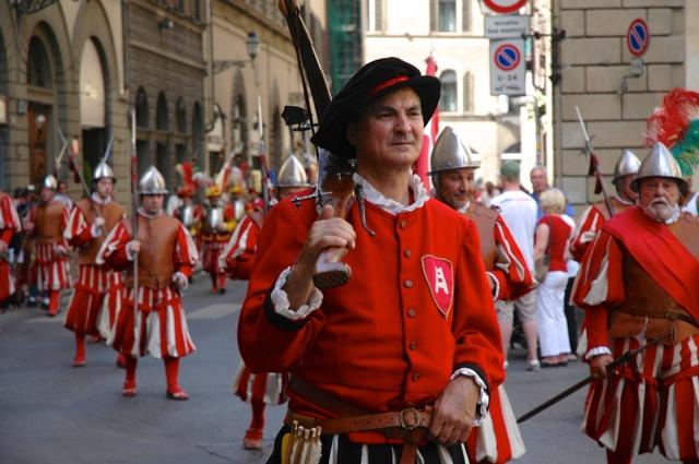 Desfile cívico em Florença.