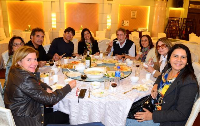 O primeiro jantar chinês do nosso grupo.