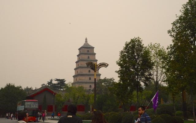 Do alto do Pagode temos uma bela vista de Xian.