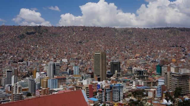 Vista de La Paz do mirante Kili Kili