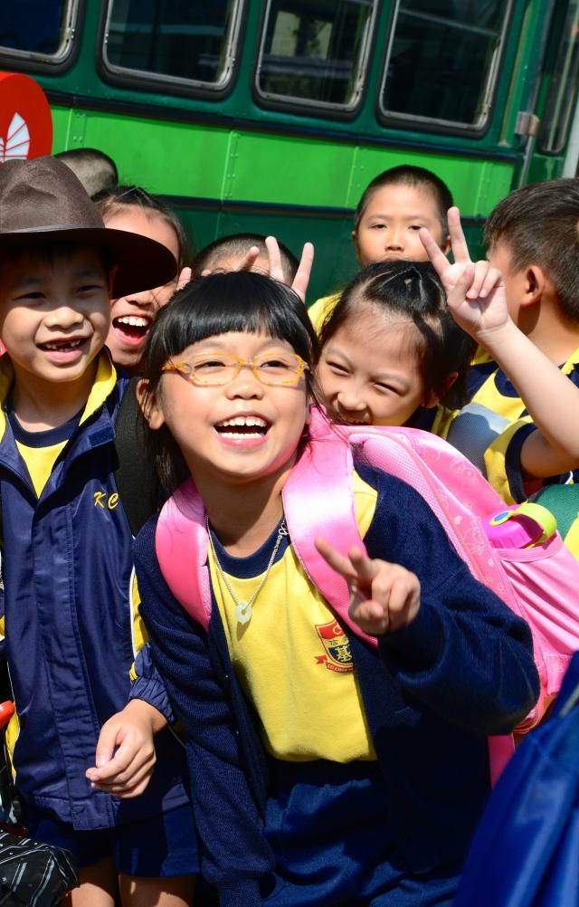 Jovens chineses de Hong Kong.