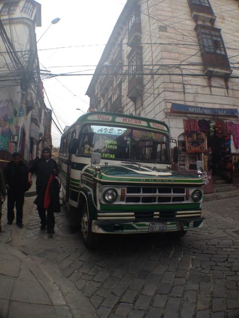 Ônibus típicos de La Paz