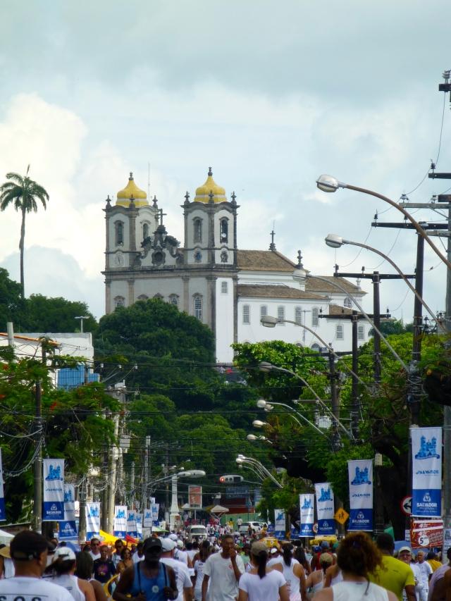 """A Igreja do Bonfim no alto da """"Colina Sagrada""""."""