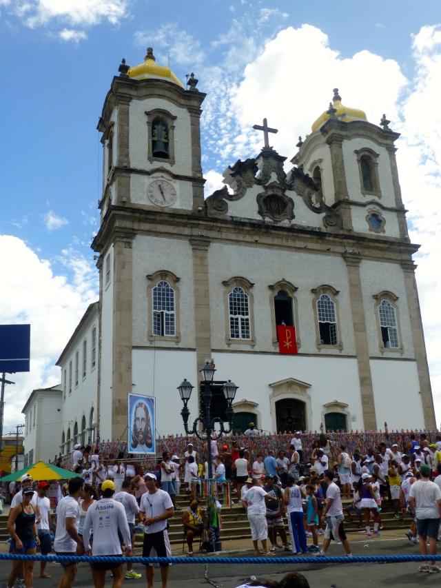 A Igreja do Senhor do Bonfim na Bahia.