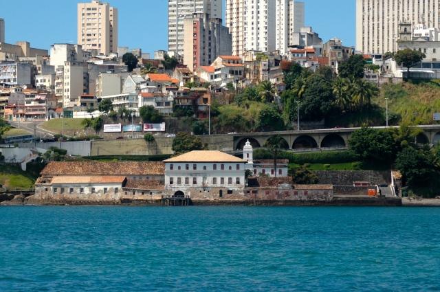 O complexo colonial do  Solar do Unhão.