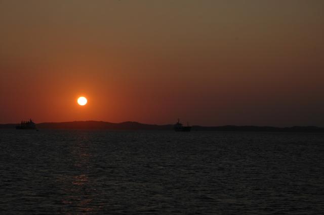 Por-do-sol na Baía de Todos os Santos.