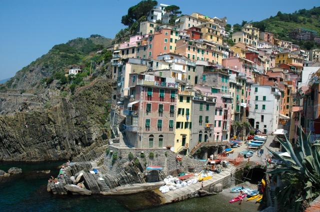 A vila de Riomaggiore
