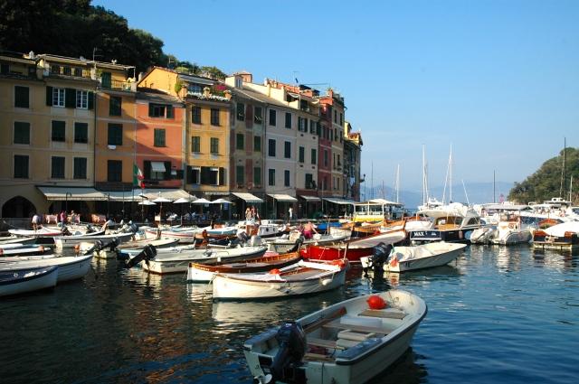 O balneário de Portofino.