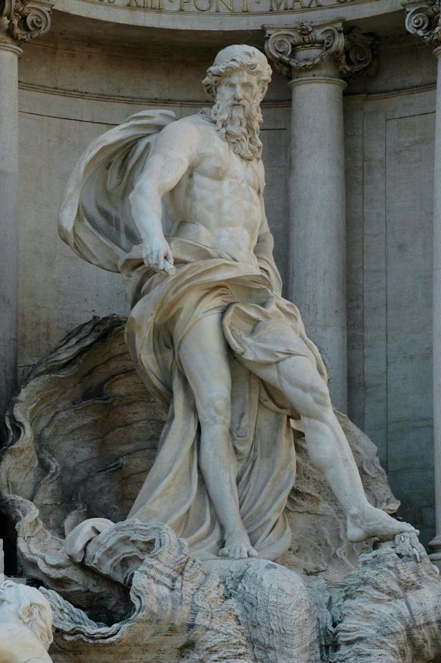 O Netuno da Fontana di Trevi