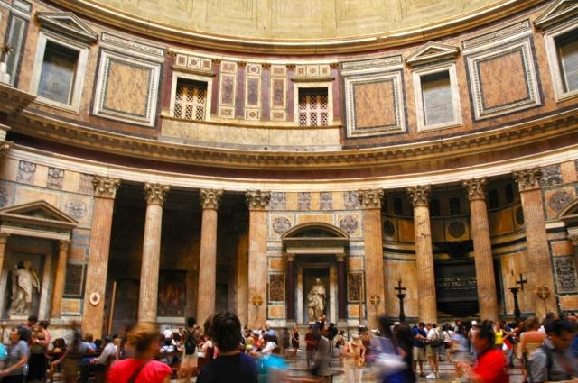 O interior do Panteão.