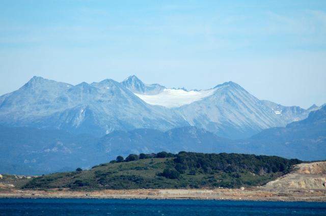 A paisagem encantadora nos arredores de Ushuaia.