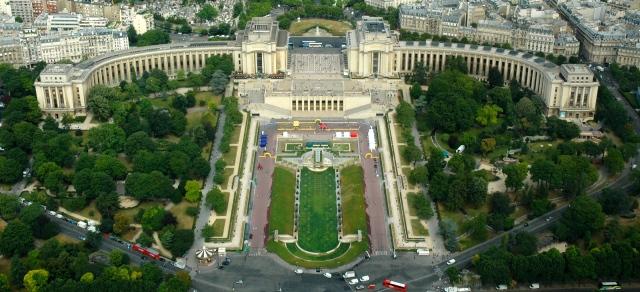 Os Jardins de Trocadero.