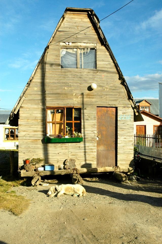 Casa típica dos primeiros moradores de Ushuaia.