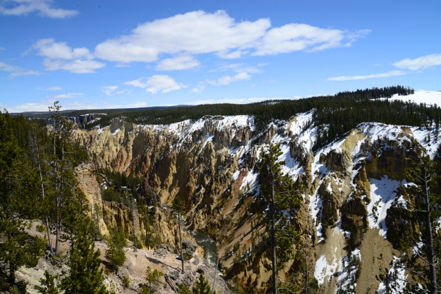 Trecho do Grand Canyon do Yellowstone.