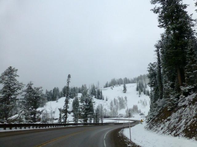 A estrada para Idaho já impressionava pela beleza do lugar.