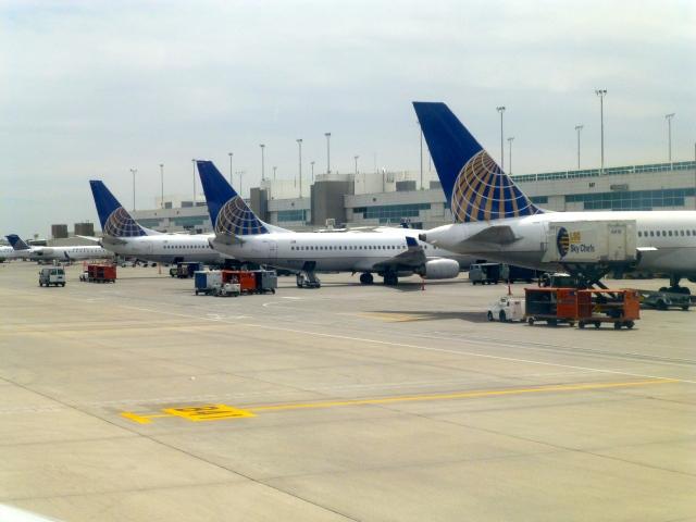 O Aeroporto de Denver.