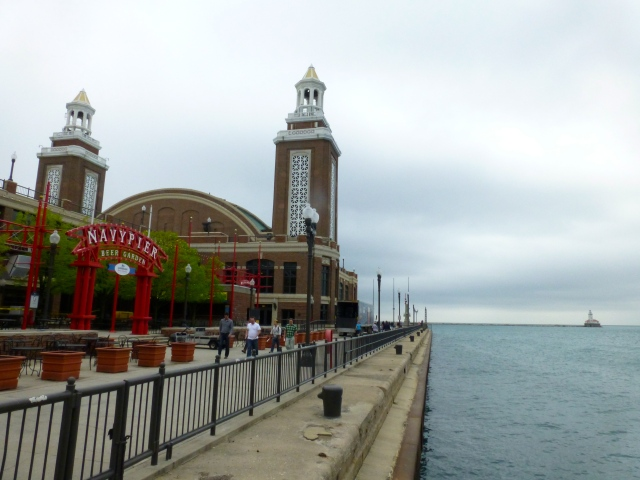 O Navy Pier.