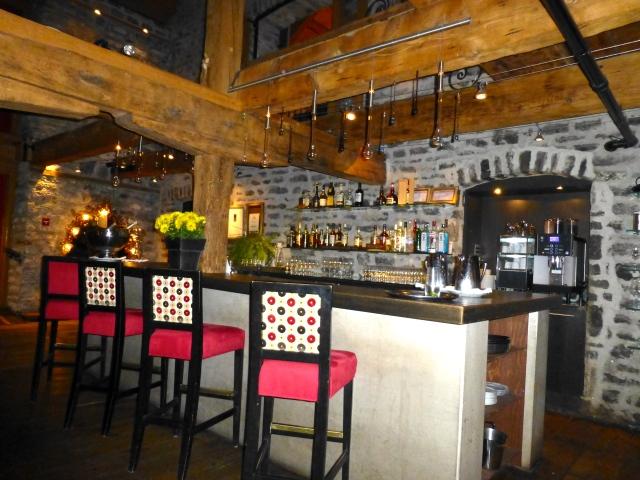Detalhes do excelente restaurante Panache.