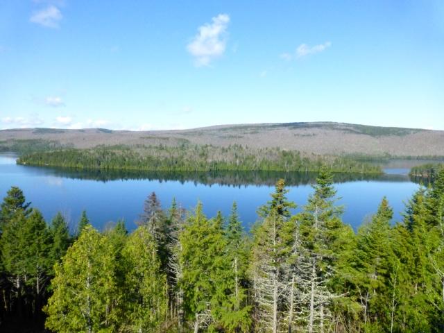 A região possui inúmeros lagos.