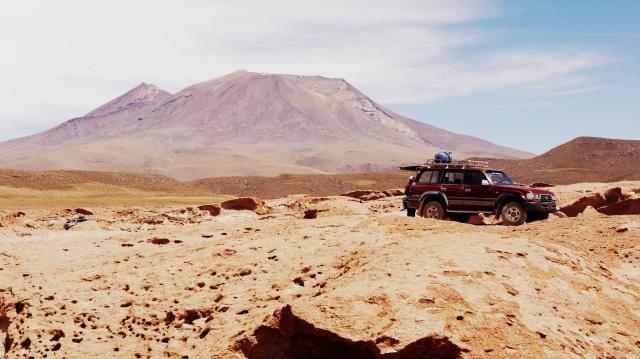 Vista do vulcão Ollague.