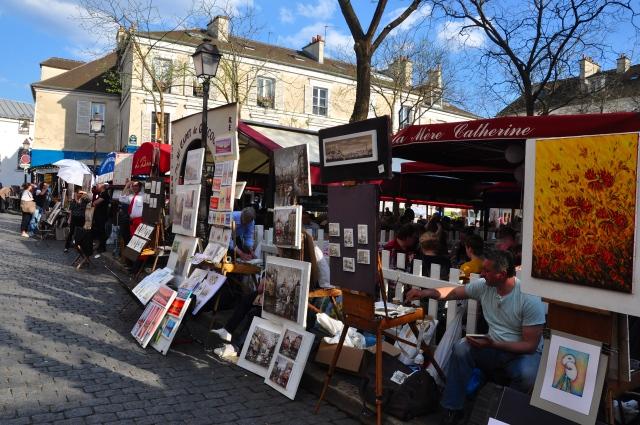 A praça principal de Montmartre.