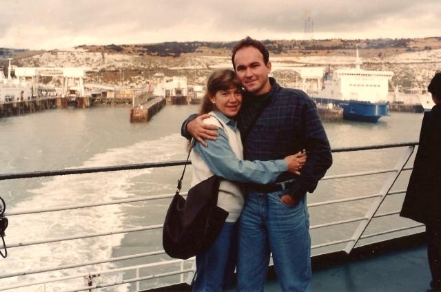 Pegamos o Ferry-boat de Calais para Dover