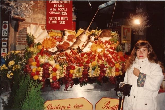 As vitrines de peixes e frutos-do-mar