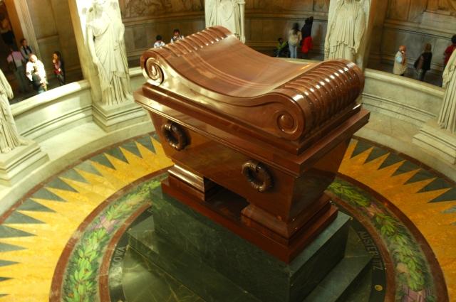 O túmulo de Napoleão Bonaparte