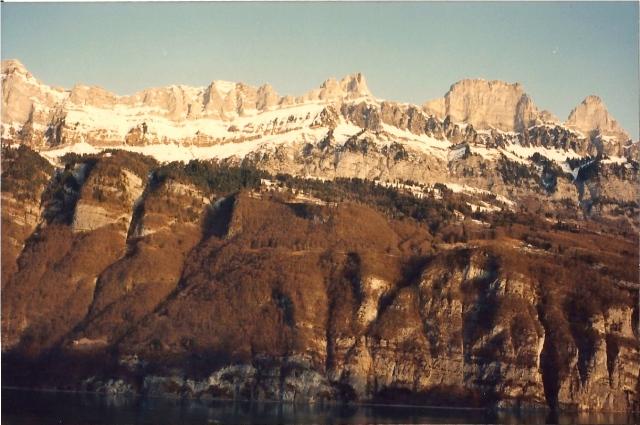 As montanhas Dolomitas.